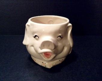 Fitz and Floyd Whimsical Pig Mug 1983