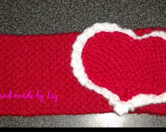 Heart Headband Knit Handmade