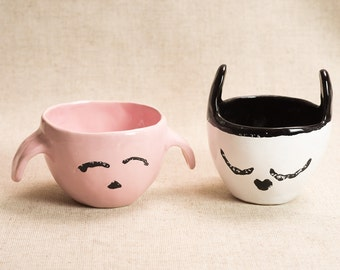 Cup with cat ears
