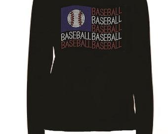 Rhinestone Baseball Grandma  Lightweight T-Shirt                              122412