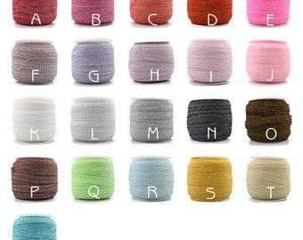 """5/8"""" Elastic Glitter Velvet Ribbon Ornaments Metallic Elastic Band for Baby Girls Hair Accessories"""