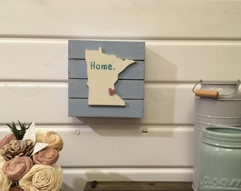 Home decor, wall decor, sign, barnwood sign, rustic sign, home, minnesota, state