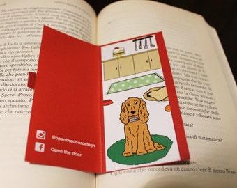 Bookmark Dog Cocker in the kitchen