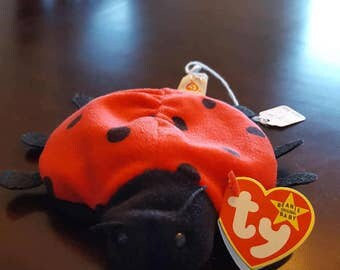 Ty Beanie Baby Lucky with tag errors