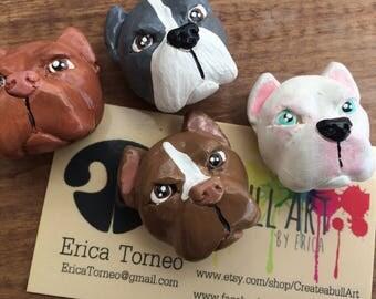 Pit bull magnet set, Pitbull magnets, American Bully magnets, pit bull Valentine's day gift, dog lover gift, pitbull valentine gift,