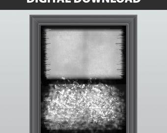 Gray Print - Grayscale Art - Grey Decor - Black and White Art - Abstract Print - Abstract Art Print - Instant Download Printable Art