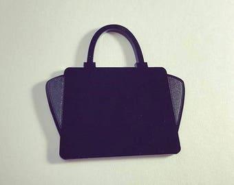 laser cut acrylic purse
