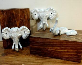 Elephant Hooks, Elephant head hook, Cast iron hooks, Kids room decor, Nursery Decor, Baby room decor, African decor, elephant decoration