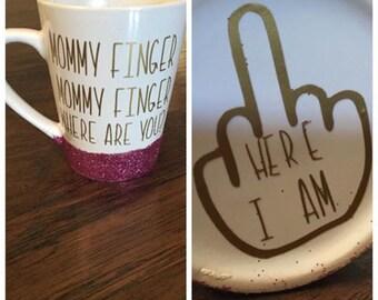 Mommy Finger coffee mugs