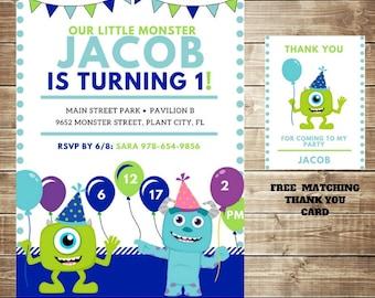 Little Monsters Birthday Invitation