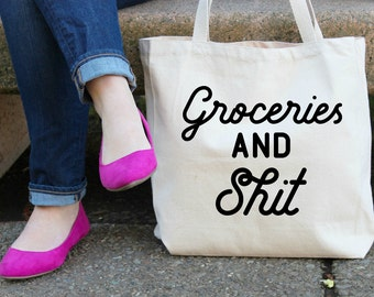 Groceries and Sh## Canvas Tote Bag