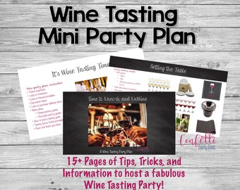 Wine Tasting Party-Wine Tasting Party Planning Guide-Girls Night/Couples Date Party-Wine and Cheese Party Plan-Couples Shower