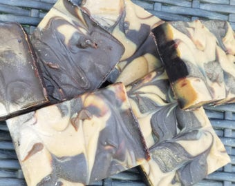 "All Natural Vegan Handmade Soap ""#donteatthesoap"" Chocolate, Peanut Butter, Honey and Almond Milk"