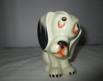 Sad Eyed Crown Devon Pup - English Art Deco Figure