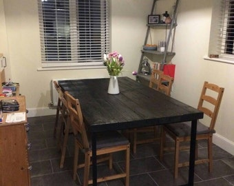 Industrial 6 8seater style dining table