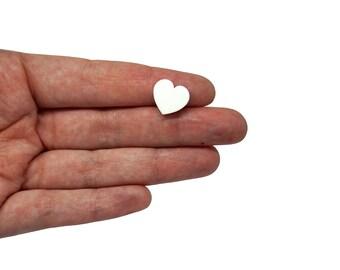 Heart mini earring supplies x20, heart mini earring, hearts bijoux, little hearts earrings, heart clip lasercut wood plexiglas - SET 20 pz