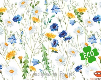 ECO border: flower | Border for allergy sufferers, flower border, wall border, nonwoven, wall trims, cornflowers, dandelion