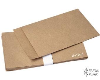 10 paper bags gift bags kraft paper nature (K-5)