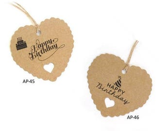 20 gift tags of happy birthday