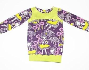 Sweatshirt, long sleeve, shirt, girls, ballerina, 98/104