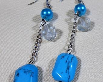 Teal / Turquoise Drop Earrings
