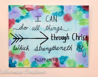 Scripture Canvas-Philippians 4:13-11x14