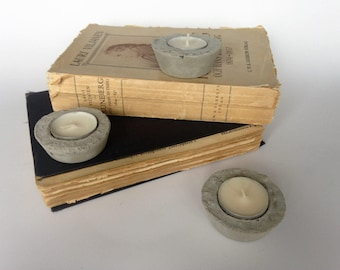 Concrete | set of 3 small waxinelichthouders