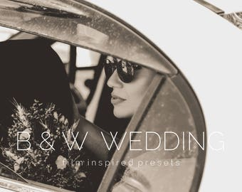 10 Black & White Wedding Lightroom Presets