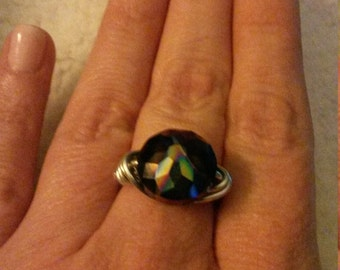 wire wrapped gem ring