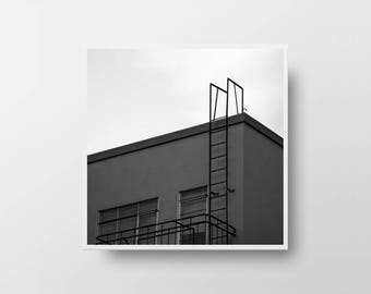 architectural art urban print square wall decor architectural print black and white photography urban wall art urban decor street photograph