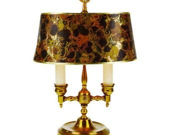 Mauve Blush Articulating Industrial Task Lamp Light Vintage