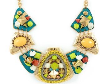 Colorful Studded Collar Necklace