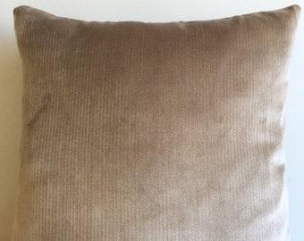Beige Velvet Pillow Cover 18x18 Pillow Velvet Beige Pillow Designer Pillow Velvet Pillows Velvet Cushion Beige Sofa Pillow Cover