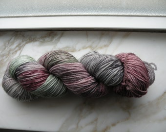 2 ply sock yarn - 80/20 SW Wool/Nylon - Grey/Sage/Mauve