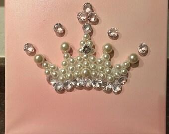 Princess crown canvas