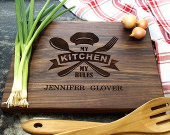 Personalized Cutting Board - Engraved Cutting Board, Custom Cutting Board, Housewarming Gift, Wedding Gift, Engagement, Anniversary (030)