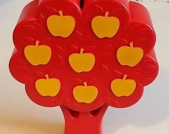 Danish tree with apples money box - midcentury 1970s