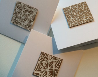 Pack of 3 handmade cards