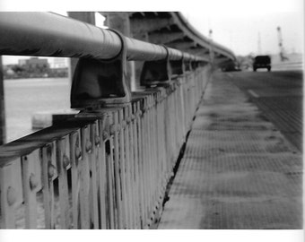 Highway- Black and white darkroom print.