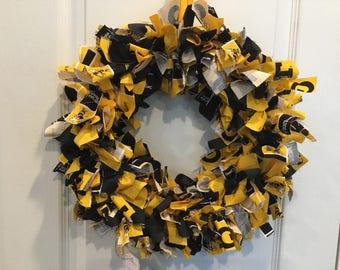Georgia Tech Rag Wreath