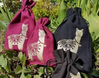 Small  pouch - Alpaca-Bag for little things or presents Kleines  Säckchen - Alpaka - Beutel für Kleinigkeiten