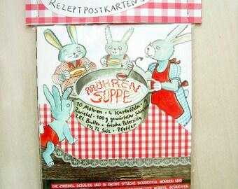 Recipe postcard set - 5 illustrated postcards