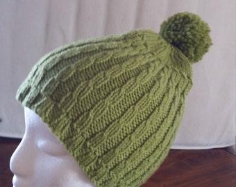 Lime green beanie cap Ladies