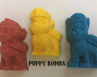 Puppy Shaped Bath Bombs! Puppy Bombs!
