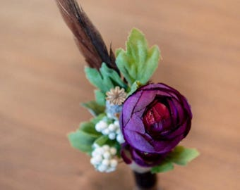 Shotgun cartridge button hole boutonnière