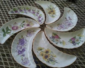 Vintage Porcelain Andrea by Sadek floral Bone dishes