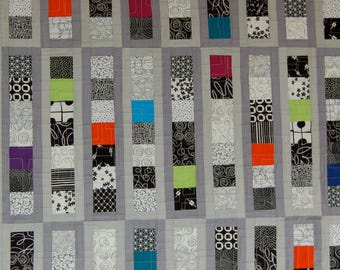 Black, White, and Lots of Color Quilt
