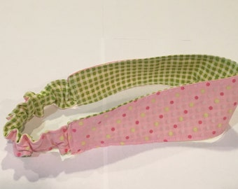 Polkadots and Gingham Reversible Headband
