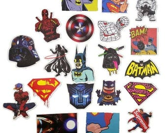 Pack of 10 Random Marvel DC Comics Star Wars Stickers