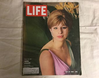 Life Magazine form 1964 Featuring Barbara Streisand and nice vintage advertising!